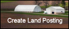 photo of farm with caption - create land posting
